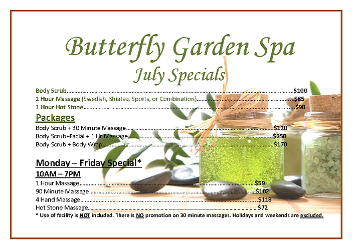 Butterfly Garden Spa Great Neck Ny Groupon. July Specials