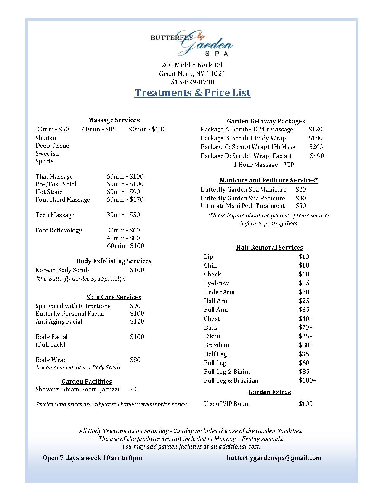 Incroyable 2014 Price List
